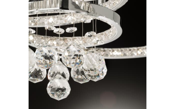 LED-Deckenleuchte Medley in chromfarbig, 45 cm