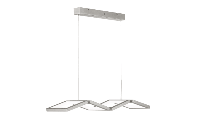 LED-Pendelleuchte Viso in nickel matt.