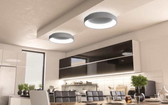 LED-Deckenleuchte Shay in dunkelgrau, 45 cm