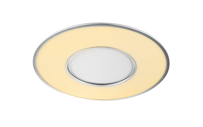 LED-Deckenleuchte Terma in silberfarbig