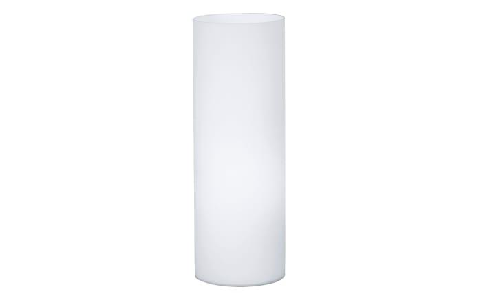 Tischleuchte Geo in opalweiß, 35 cm