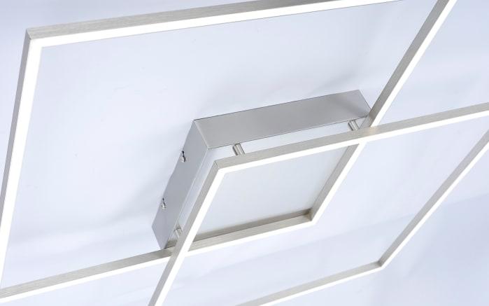 LED-Deckenleuchte Q-Inigo in stahlfarbig, 90 x 90 cm