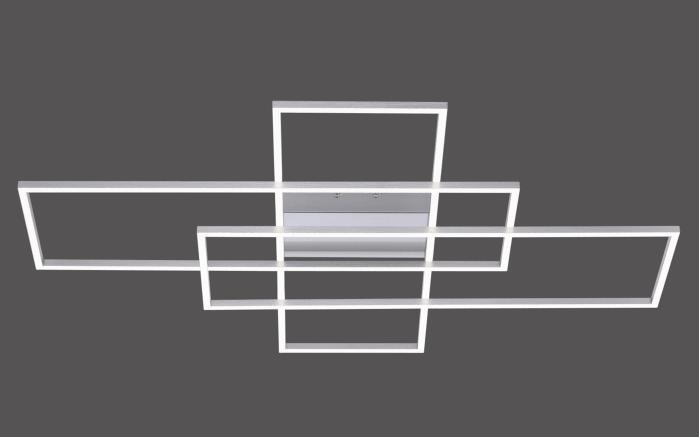 LED Deckenleuchte Q-Inigo in stahlfarbig, 101 x 75 cm