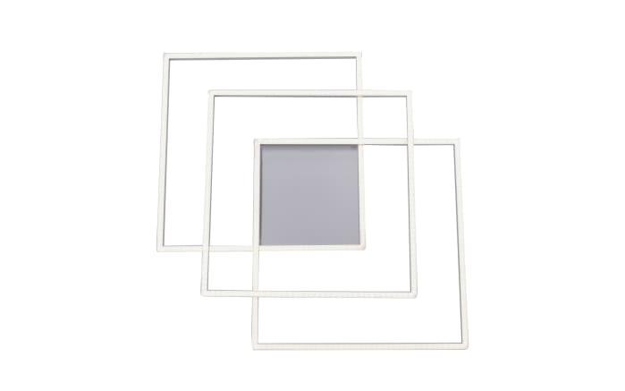 LED Deckenleuchte Q-Inigo in stahlfarbig, 60 x 60 cm