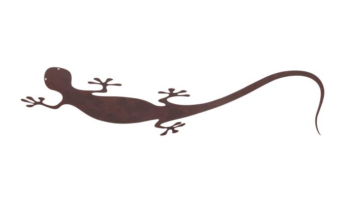LED-Wandleuchte Nevis in rostfarbig, Salamander