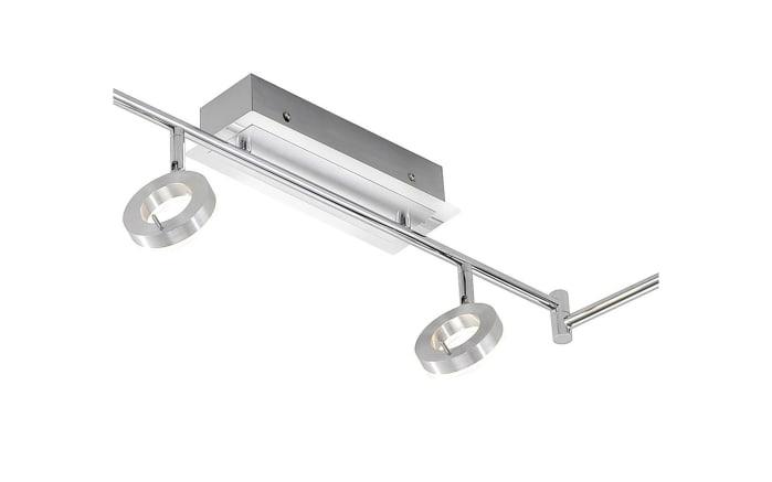 LED-Deckenleuchte Sileda in aluminiumfarbig matt, 6-flammig