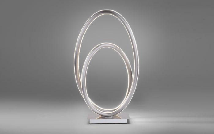 LED-Tischleuchte Q-Nevio in stahlfarbig