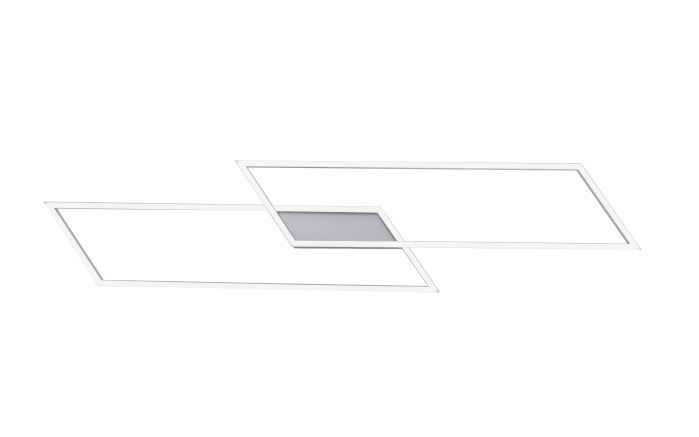 LED-Deckenleuchte Inigo in stahlfarbig, 2-flammig
