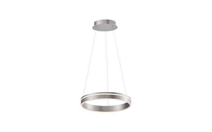 LED-Pendelleuchte Q-Vito in stahlfarbig, 40 cm