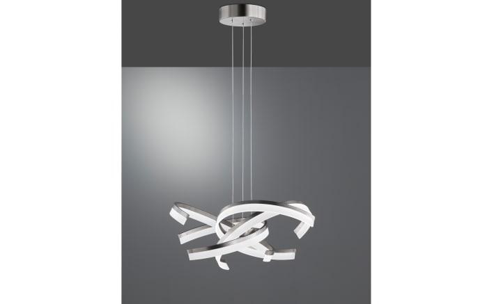 LED-Pendelleuchte Sund in nickel matt, 65 cm