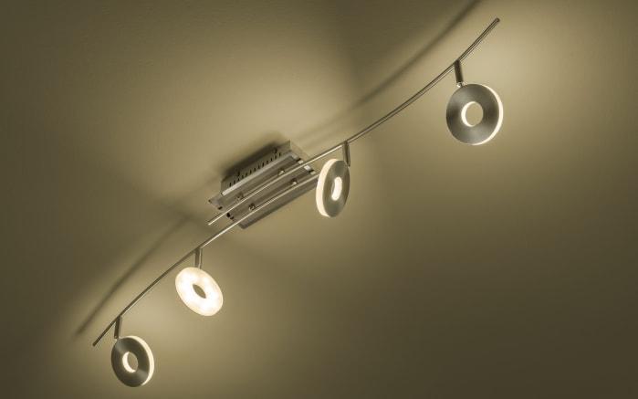 LED-Deckenleuchte Dent in nickel matt, 4-flammig