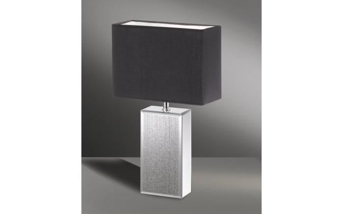Tischleuchte Bert in anthrazit/silber verspiegelt, 50 cm