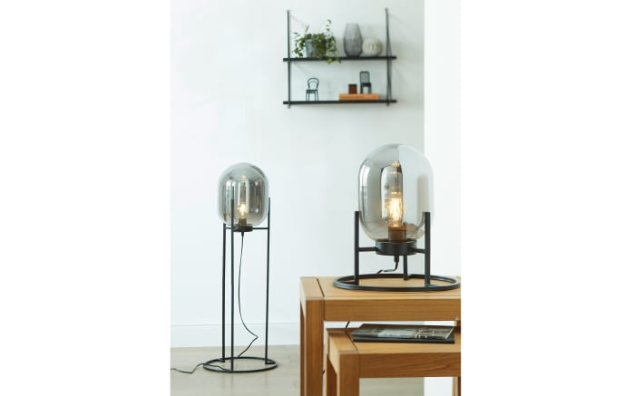 Tischleuchte Regi in schwarz, 34 cm