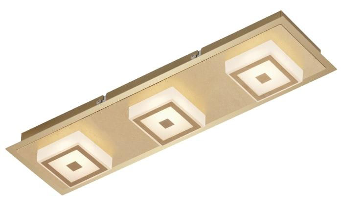 LED-Deckenleuchte 3330-037 in goldfarbig, 3-flammig