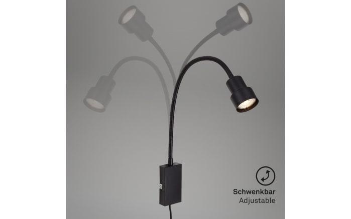 LED-Wandleuchte Tusi in schwarz-04