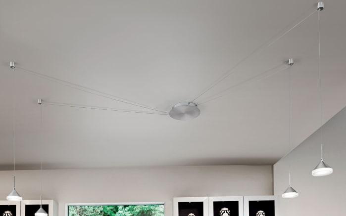 LED-Pendelleuchte Isabella in nickel matt