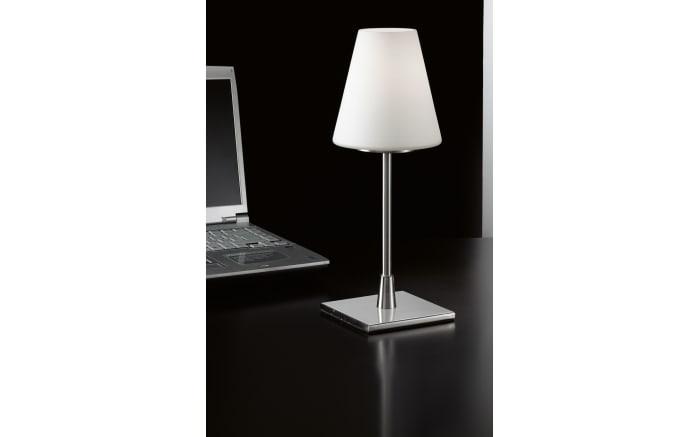 Tischleuchte Lucy in nickel satiniert, 43 cm