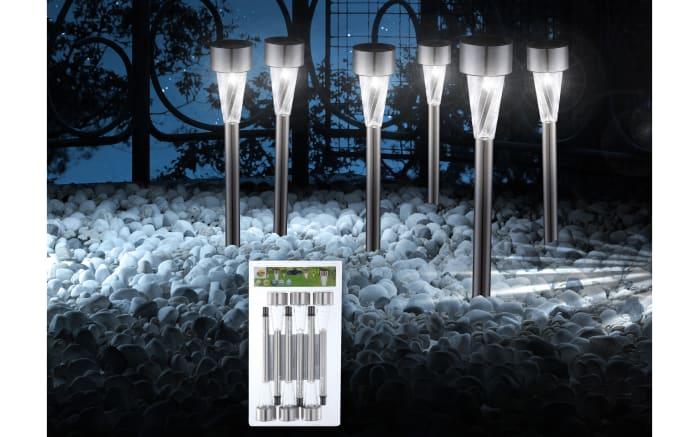 6er-Set LED-Solarleuchten mit Spieß