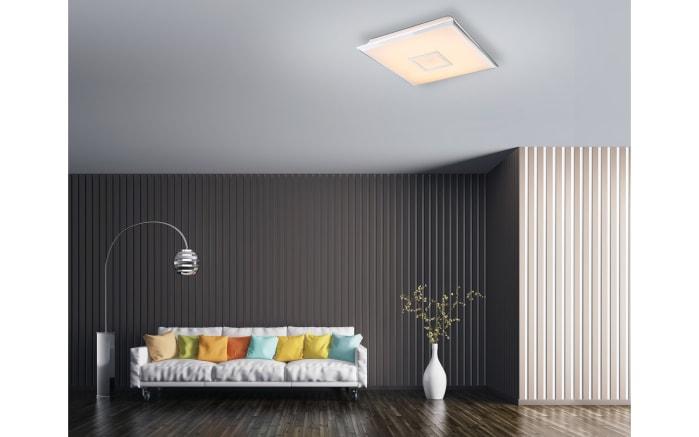 LED-Deckenleuchte mit Sparkle-Decor in weiß, 46,5 x 46,5 cm