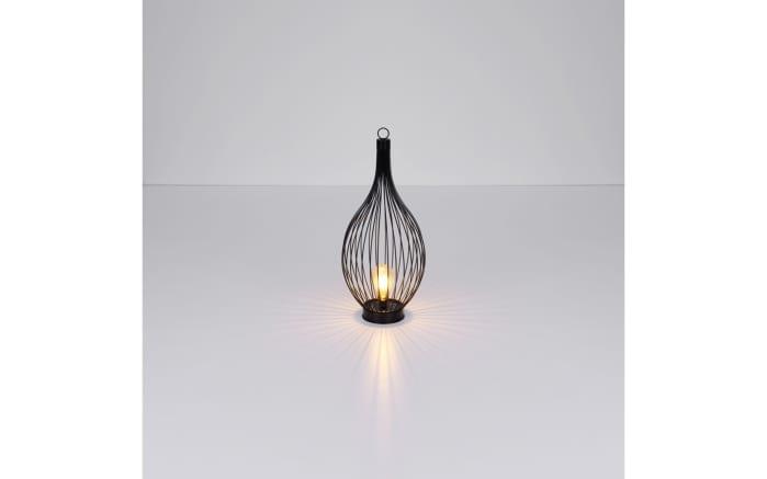 LED-Solarleuchte 33672 in schwarz, 57 cm