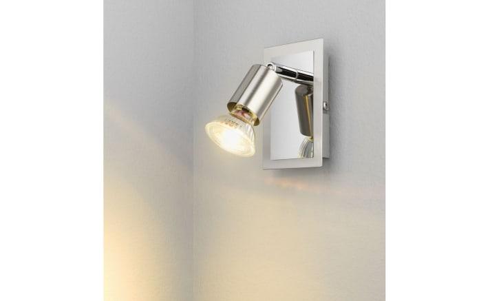 LED-Wandleuchte Bob in nickel matt