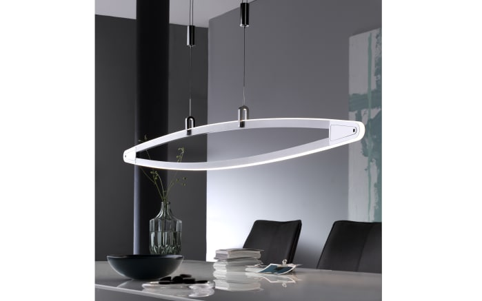 LED-Pendelleuchte Opus in nickel matt