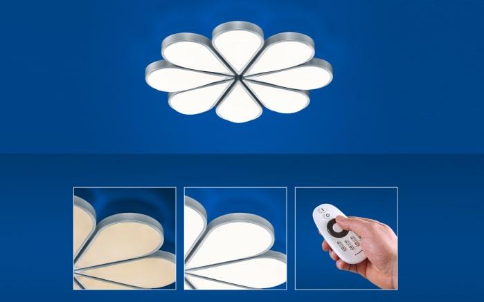 LED-Deckenleuchte Flower in nickel matt
