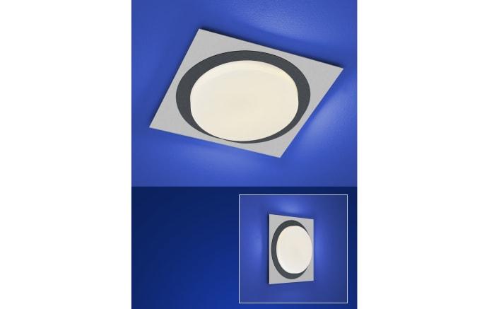 LED-Deckenleuchte Eclipse in silber eloxiert