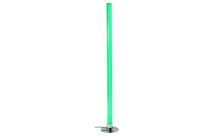 LED-Standleuchte Lugo in chromfarbig