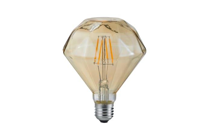 LED-Filament Diamant rund beige getönt, 4 W / E27-01