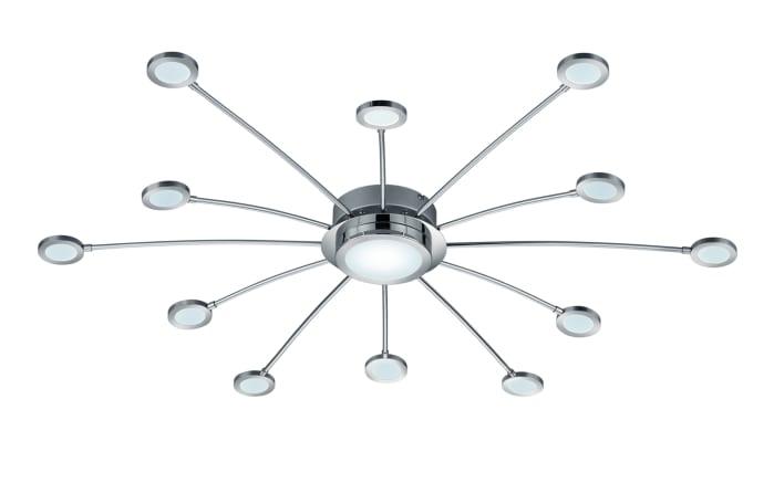 LED-Deckenleuchte Bodrum in chromfarbig