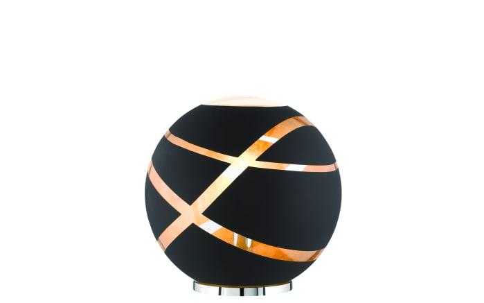Tischleuchte Faro in schwarz/goldfarbig, 30 cm