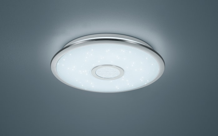 LED-Pendelleuchte Osaka in chromfarbig, 42 cm