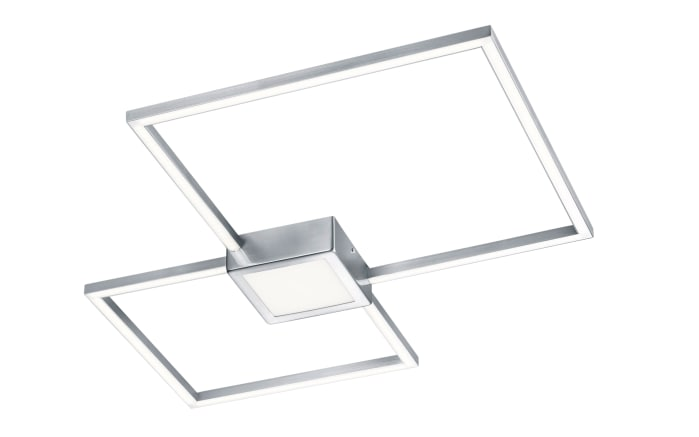 LED-Deckenleuchte Hydra in nickel matt/eckig, 65 x 65 cm