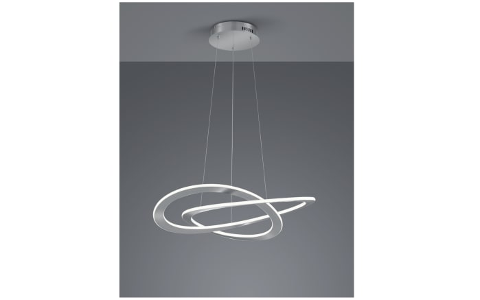 LED-Pendelleuchte Oakland in nickel matt, 70 cm