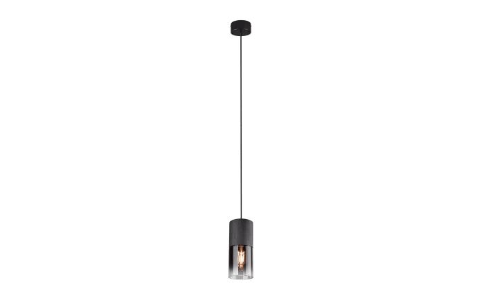 Pendelleuchte Robin in schwarz/rauchfarbig, 1-flammig-01