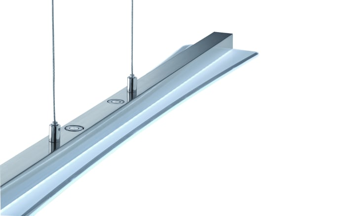 LED-Pendelleuchte Smash in nickel matt