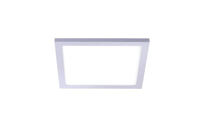 LED-Deckenleuchte Flat CCT in silberfarbig/weiß, 30 x 30 cm
