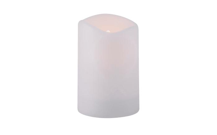 Solar Kerze in weiß mit Flackereffekt, 15 cm