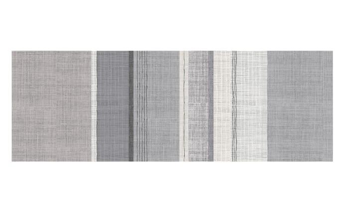 Bettwäsche Feinbiber in creme/grau, 155 x 220 cm