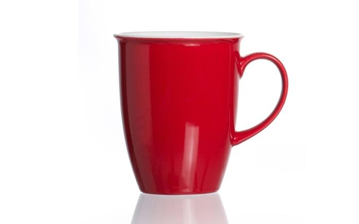 Kaffeebecher Doppio in rot, 320 ml