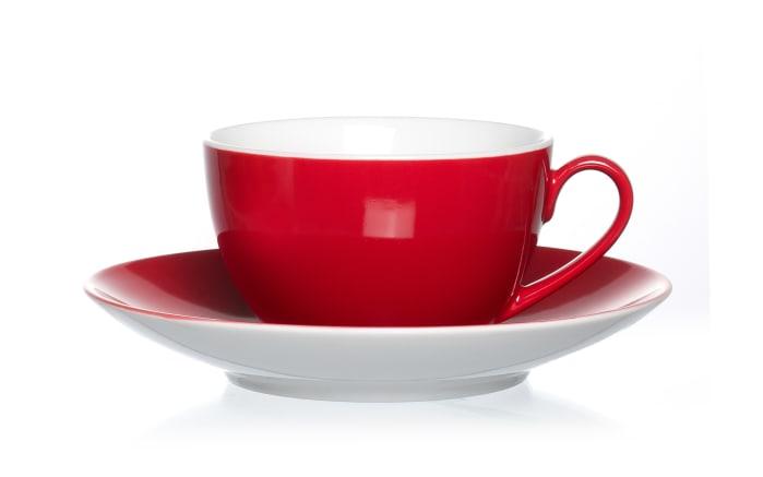 Untertasse Doppio in rot, 16 cm