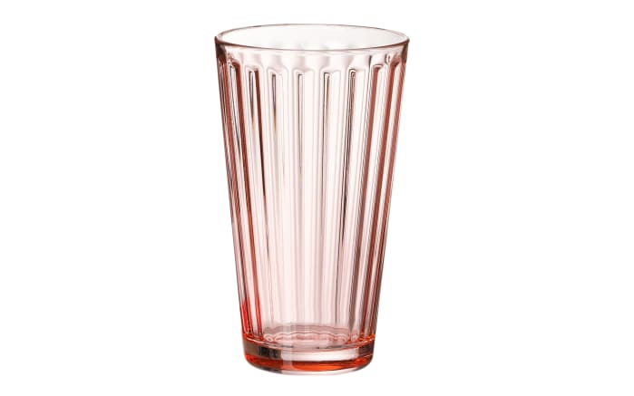 Longdrinkglas Lawe in rosa, 400 ml