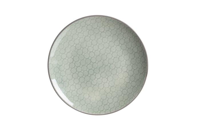 Teller Weekend in grün, 21,5 cm