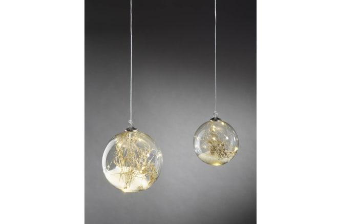 LED-Kugel Isco in Glas klar, ca. 12 cm Durchmesser