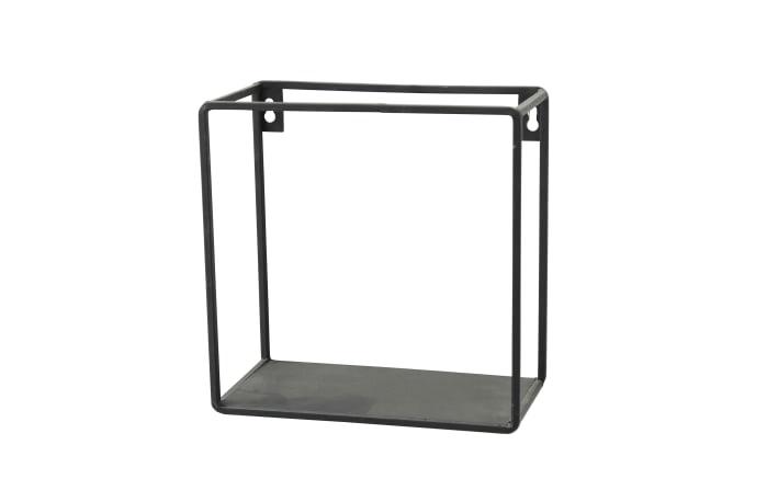 Wandregal Franco in schwarz, 16 cm