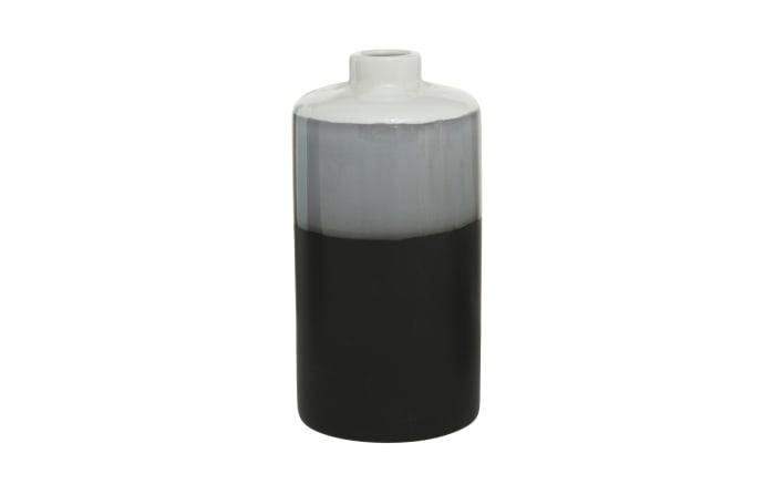 Vase Brixa in schwarz/weiß, 18 cm