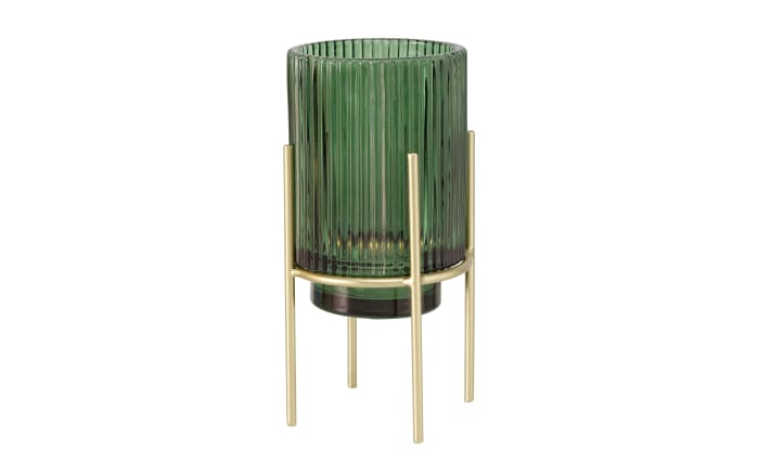 Windlicht Muza in gelb/grün, 17 cm
