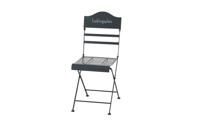 Tisch-Stuhl-Set in grau