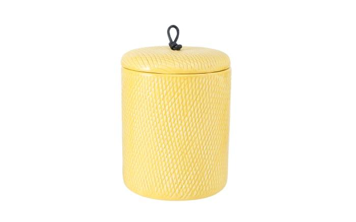 Vorratsdose Vee in gelb/weiß, 16 cm